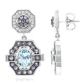 Sky Blue Topaz Silver Earrings (Memories by Vincent)