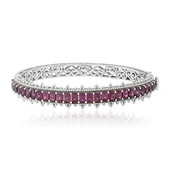 Rhodolite Silver Bangle (Dallas Prince Designs)