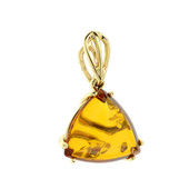 9K Baltic Amber Gold Pendant