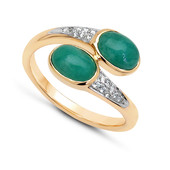 14K Emerald Gold Ring