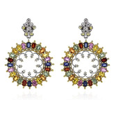 Fancy Sapphire Silver Earrings (Dallas Prince Designs)