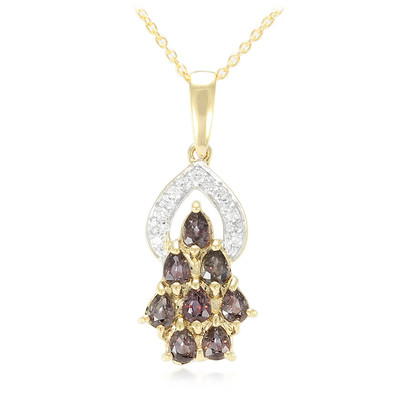 18K Unheated Colour Change Sapphire Gold Necklace
