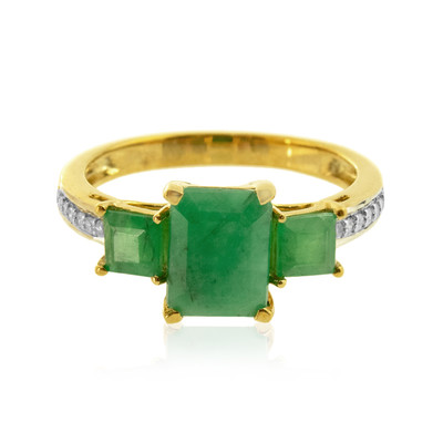9K Brazilian Emerald Gold Ring