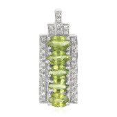 AAA Green Sapphire Silver Pendant