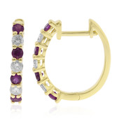 14K AAA Mozambique Ruby Gold Earrings (CIRARI)