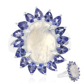 Ceylon Blue Moonstone Silver Ring