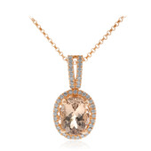 14K AAA Morganite Gold Necklace (CIRARI)