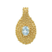 Sky Blue Topaz Silver Pendant (MONOSONO COLLECTION)