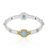 Turquoise Silver Bangle (Dallas Prince Designs)