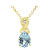 Sky Blue Topaz Silver Necklace