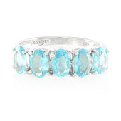 Blue Apatite Silver Ring (Cavill)