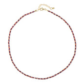 Magenta Garnet Silver Necklace
