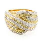 Yellow Diamond Silver Ring