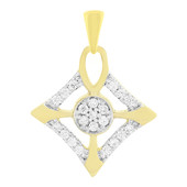 18K SI Diamond Gold Pendant