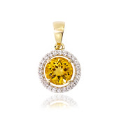 9K Yellow Beryl Gold Pendant