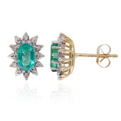 9K Zambian Emerald Gold Earrings