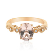 14K AAA Morganite Gold Ring (CIRARI)
