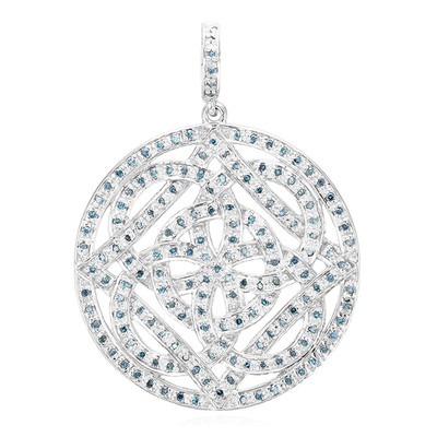 Fancy Diamond Silver Pendant (Cavill)