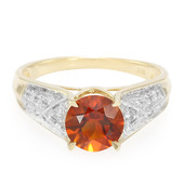 9K Imperial Red Citrine Gold Ring