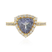 9K Unheated Tanzanite Gold Ring