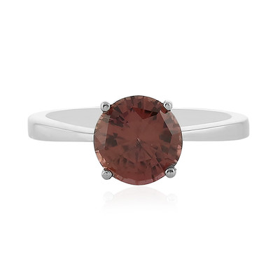 Pink Zircon Silver Ring