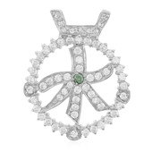 Forest Green Diamond Silver Pendant (Molloy)