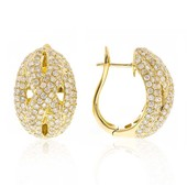 14K Diamond Gold Earrings (CIRARI)