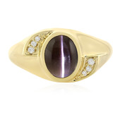 Cat´s Eye Sillimanite Silver Ring