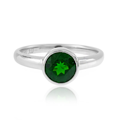 Russian Diopside Platinium Ring