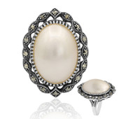 Mabe Pearl Silver Ring