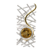 Citrine Silver Pendant (MONOSONO COLLECTION)