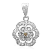 Golden Yellow Diamond Silver Pendant (Molloy)