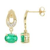 18K Ethiopian Emerald Gold Earrings