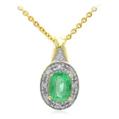 18K Sao Francisco Emerald Gold Necklace
