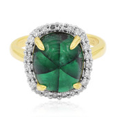 18K Emerald Trapiche Gold Ring