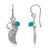 Amazonite Silver Earrings