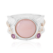 Pink Opal Silver Ring (MONOSONO COLLECTION)