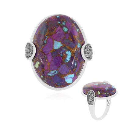 Mohave Purple Copper Turquoise Silver Ring