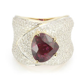 18K Red Cuprian Tourmaline Gold Ring (de Melo)