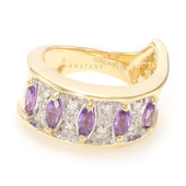 18K Unheated Ceylon Purple Sapphire Gold Ring