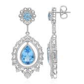 Swiss Blue Topaz Silver Earrings (Dallas Prince Designs)