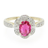 9K Red Cuprian Tourmaline Gold Ring