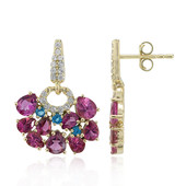 9K Pink Tourmaline Gold Earrings (Adela Gold)