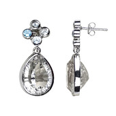 Prince Quartz Silver Earrings
