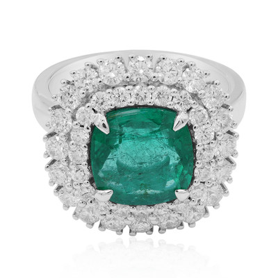 18K Colombian Emerald Gold Ring (CIRARI)