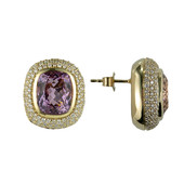 14K Patroke Kunzite Gold Earrings (de Melo)