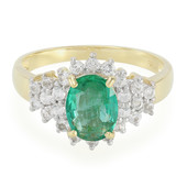 9K AAA Zambian Emerald Gold Ring