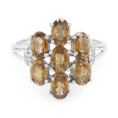 Mashewa Orange Zircon Silver Ring