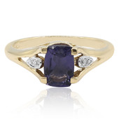 9K Blueberry Quartz Gold Ring