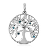 Blue Diamond Silver Pendant